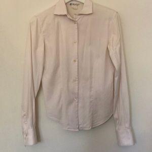 Loro Piana Long Sleeve Button-Up Top. Size 42